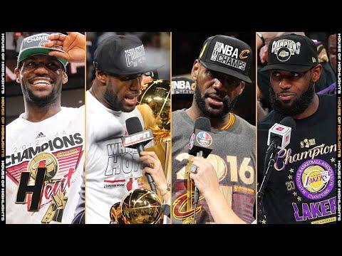 LeBron James ALL 4 Finals MVP Speeches!