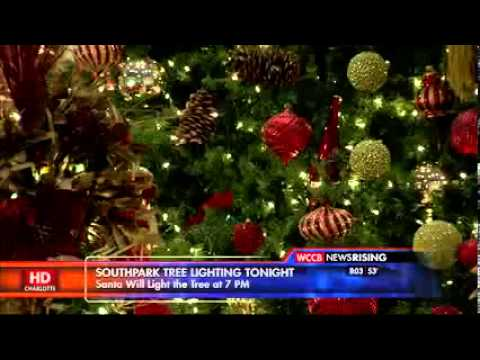 11 22 2013   WCCB CLT   FOX   WCCB News Rising @ 8 AM   SouthPark Tree Lighting Tonight   SouthPark