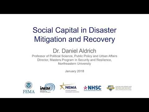 "PrepTalks: Dr. Daniel Aldrich ""Social Capital in Disaster Mitigation and Recovery"""
