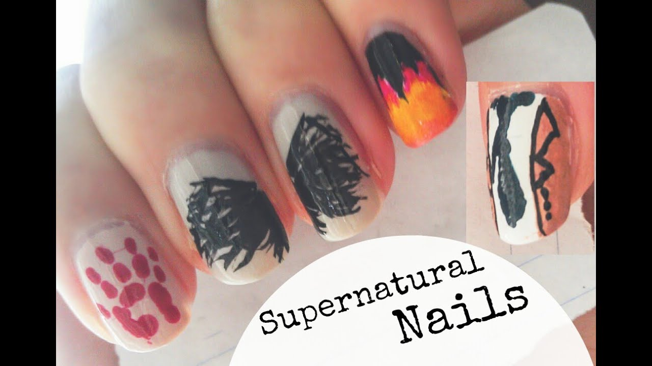 Supernatural castiel nails youtube prinsesfo Image collections