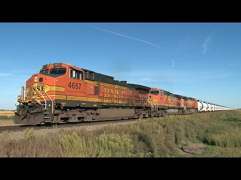 Bakken Oil Cans And Other Trains Across The North Dakota Prairie - Volume One