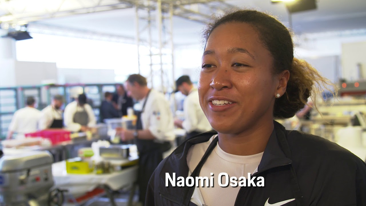 Naomi Osaka Prepares Spätzle At The Porsche Tennis Grand Prix 2019