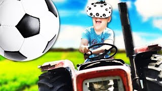 Rocket League Tractors in Virtual Reality! - Tractorball Gameplay - VR HTC Vive