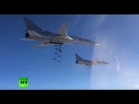New footage of Russian strategic bombers striking targets in Syria להורדה