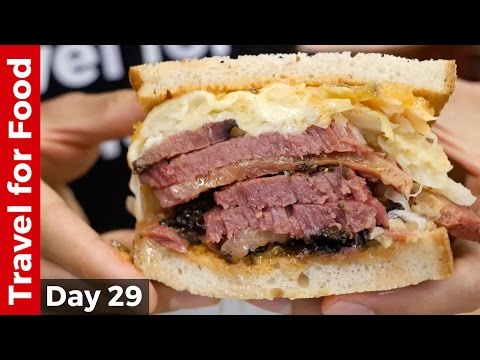 New York City Food Tour : Melt-In-Your-Mouth Pastrami at Katz's Deli and The Halal Guys!