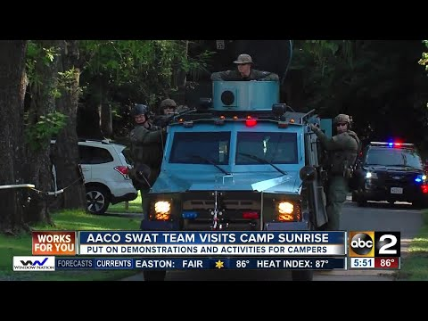 Anne Arundel County SWAT team visits Camp Sunrise
