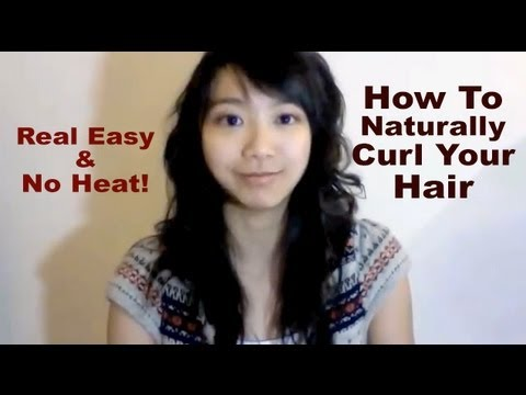naturally curl hair