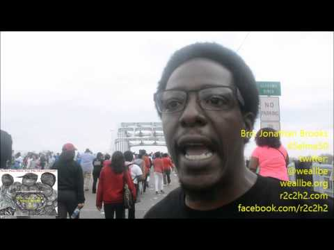 A Moment Of Truth On The Edmund Pettus Bridge...@MelanoidNation Stand Up!!!~3/8/2015 #Selma50