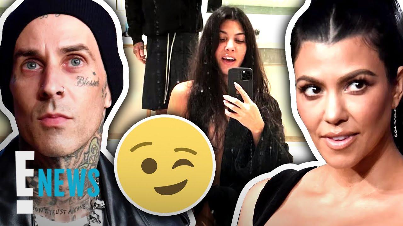 See Kourtney Kardashian's Risque Pic With BF Travis Barker News