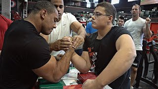 SCHOOLBOY VS LARRY WHEELS + KHALED | ARM WRESTLING 2020