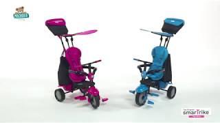 Trojkolka Glow 4v1 Touch Steering Black&Pink smarT