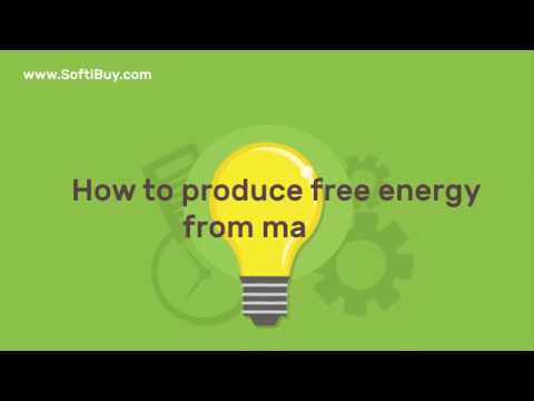 How to produce free energy from magnet