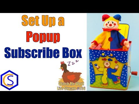 How to Add and Set Up a Newsletter Subscribe Popup Box in Joomla - 👀 Watch Me Work 036