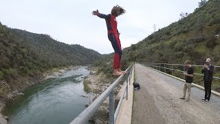 Cliff Jumping Off 80ft Bridge  Plus Paragliding and More 4k