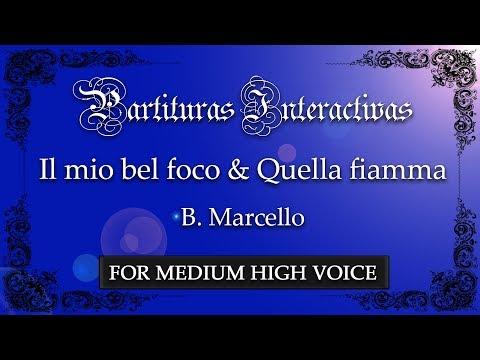 Il mio bel foco + Quella fiamma che m'accende - B. Marcello (Karaoke - Key: G minor)