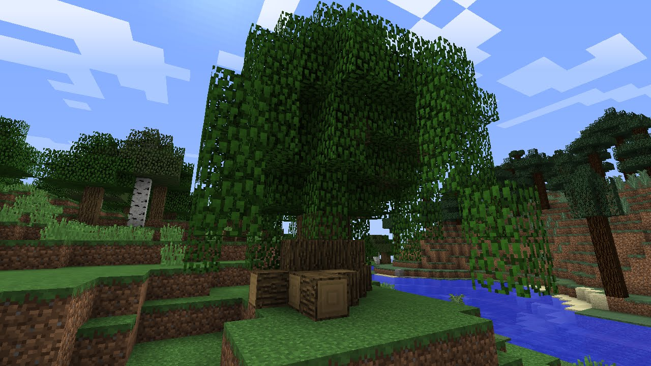 How to build a custom tree in minecraft 1 8 tutorial for How to find a builder
