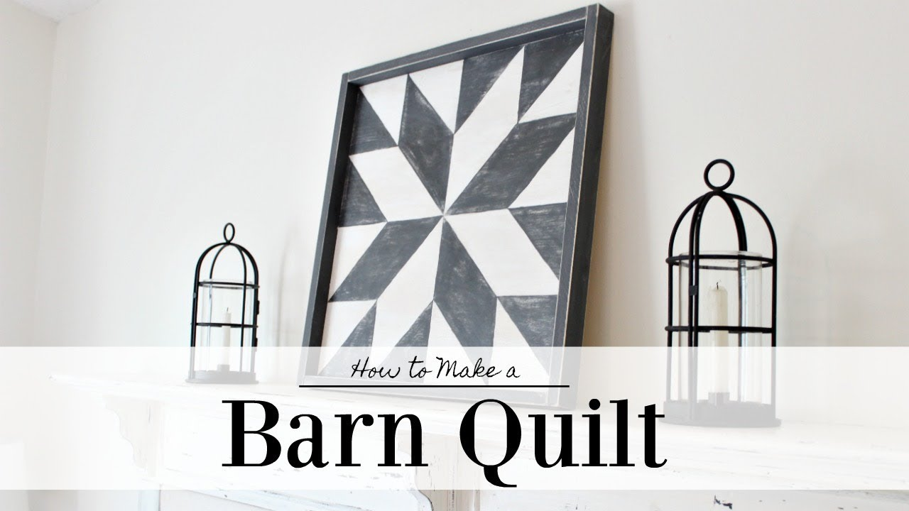Barn Quilt | How To Paint | Farmhouse Style - YouTube