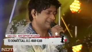 "KK singing ""Tu Aashiqui Hai""  for NDTV Support My School telethon"