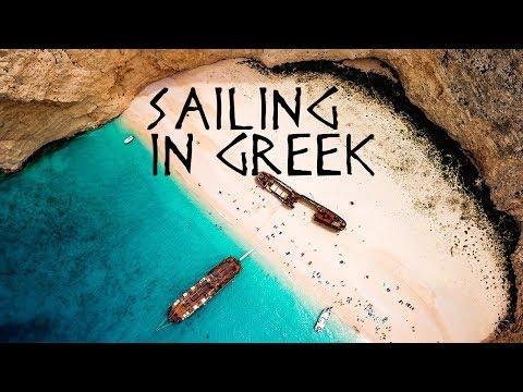 Sailing trip over Greek islands