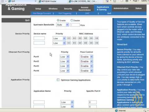 Wireless Networking - Quality Of Service Settings