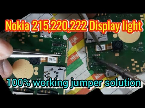 Nokia 220 lcd light jumper solution (100% working) || Verified Tricks