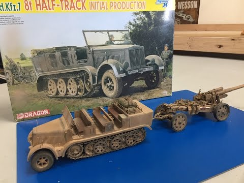Building The Dragon 1/35 sdkfz 7 8 ton Halftrack in north Af