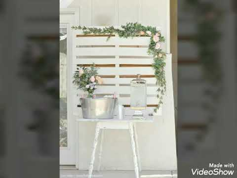 Elegant event decorations / diy wooden backdrop