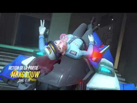 PLAY OF THE GAME WITH D.VA | feat JusTEzz - OVERWATCH - MAKSSOUW - 4K