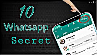 Top 10 important tips for whatsapp //whatsapp trick // whatsapp tricks 2018 // whatsapp tricks hindi