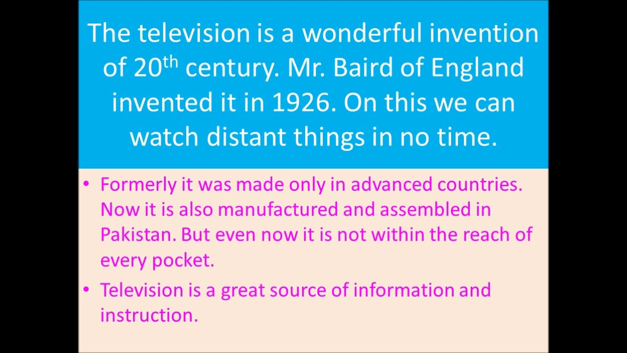 history of television essay