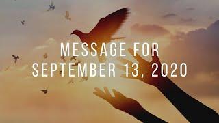 Message for September 13th, 2020