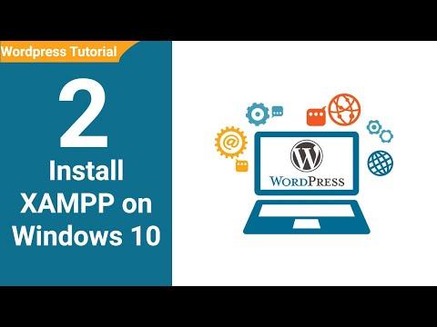 02  How to install Xampp Wordpress tutorial for beginners Urdu / Hindi Youtube thumbnail