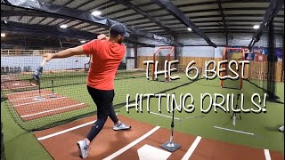 Top 6 Hitting Drills for Players of ALL Ages!  [Baseball Hitting Drills That Really Work!]