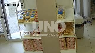 En 35 segundos: así roban una panadería en Santa Fe