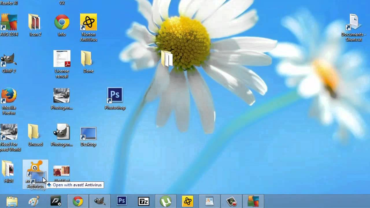 how to get my desktop icon back on my taskbar computer icons