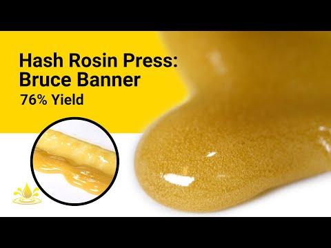 Hash Rosin Press: Bruce Banner 76% Yield