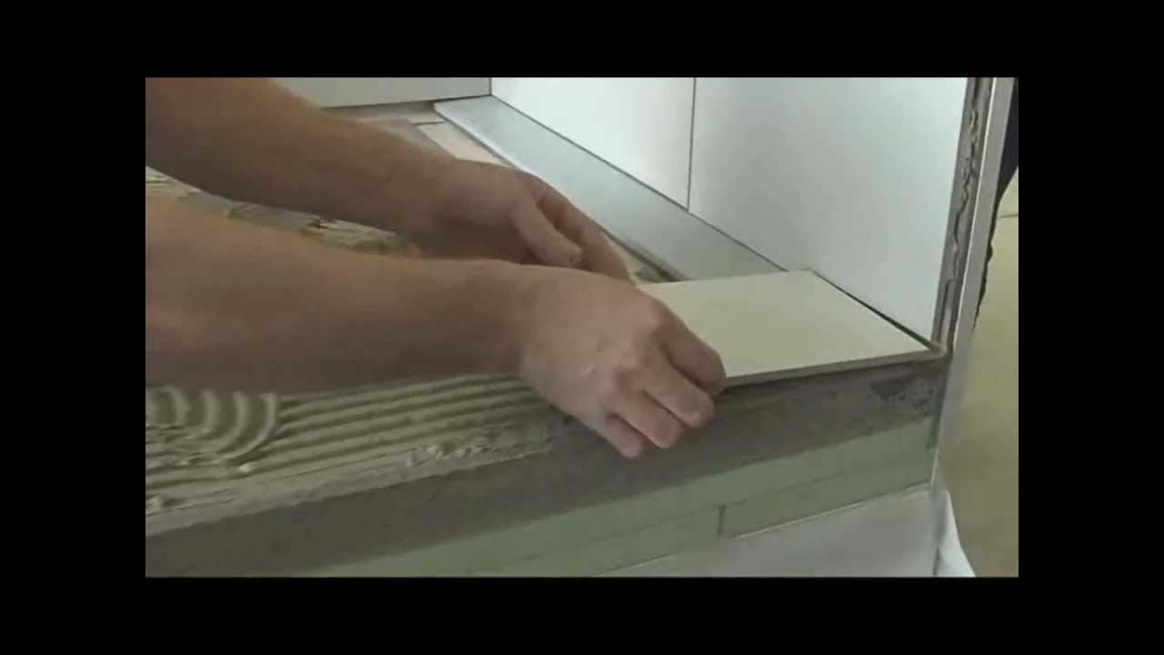 Монтаж душевого канала ACO ShowerDrain с крышкой под плитку.wmv