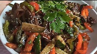Салат/ Острый Салат из мяса и овощей за 15 минут