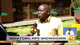 Senators protest county budget cuts #MondaySpecial