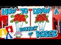 How To Draw A Bouquet Of Roses For Valentine's Day