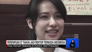 Risa Santoso, Wanita 27 Tahun Rektor Termuda Indonesia