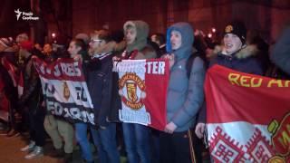В Одесі фанати «Манчестер Юнайтед» влаштували марш  Британських фанатів «не взяли»анчестер Юнайтед»
