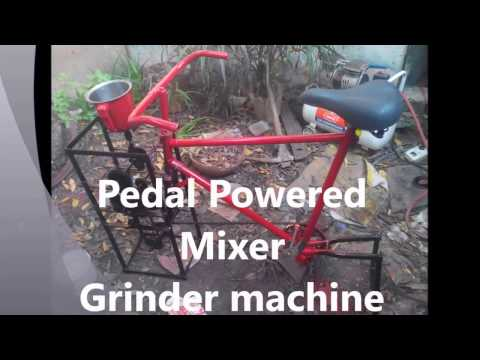 Pedal Powered Mixer Grinder    Engg.project   मिक्सर मशीन