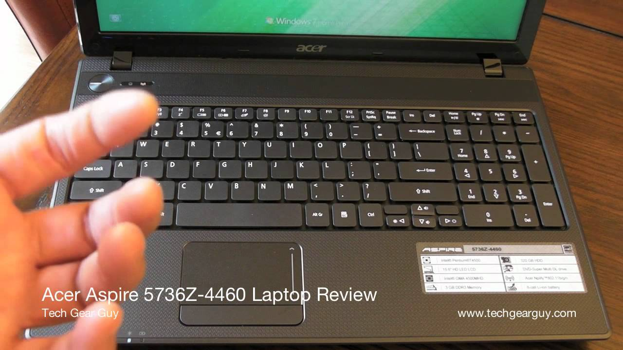 Acer Aspire 5736Z-4460 Review - YouTube