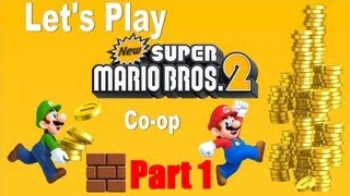 Lets Play New Super Mario Bros 2 - Part 1 + Nintendo 3DS XL + Multiplayer Co-op With Maddie
