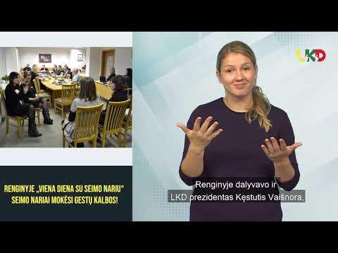 """Renginyje """"Viena diena su Seimo nariu"""" Seimo nariai mokėsi gestų kalbos!"""
