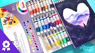 #APruebaDeOS - Acuarelas Pentel / 24 colores ¿Qué tan buenas son? :)