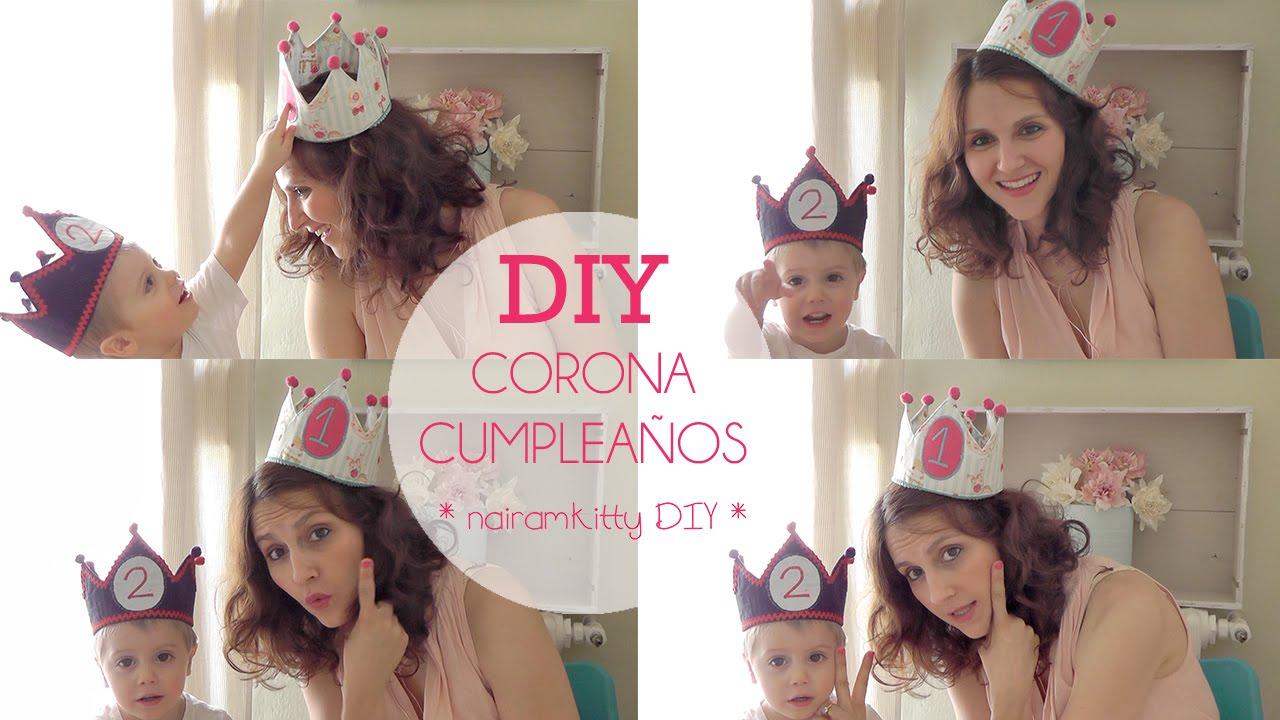 d51f0affd Cómo hacer una CORONA de CUMPLEAÑOS (Patrones grat - YouTube