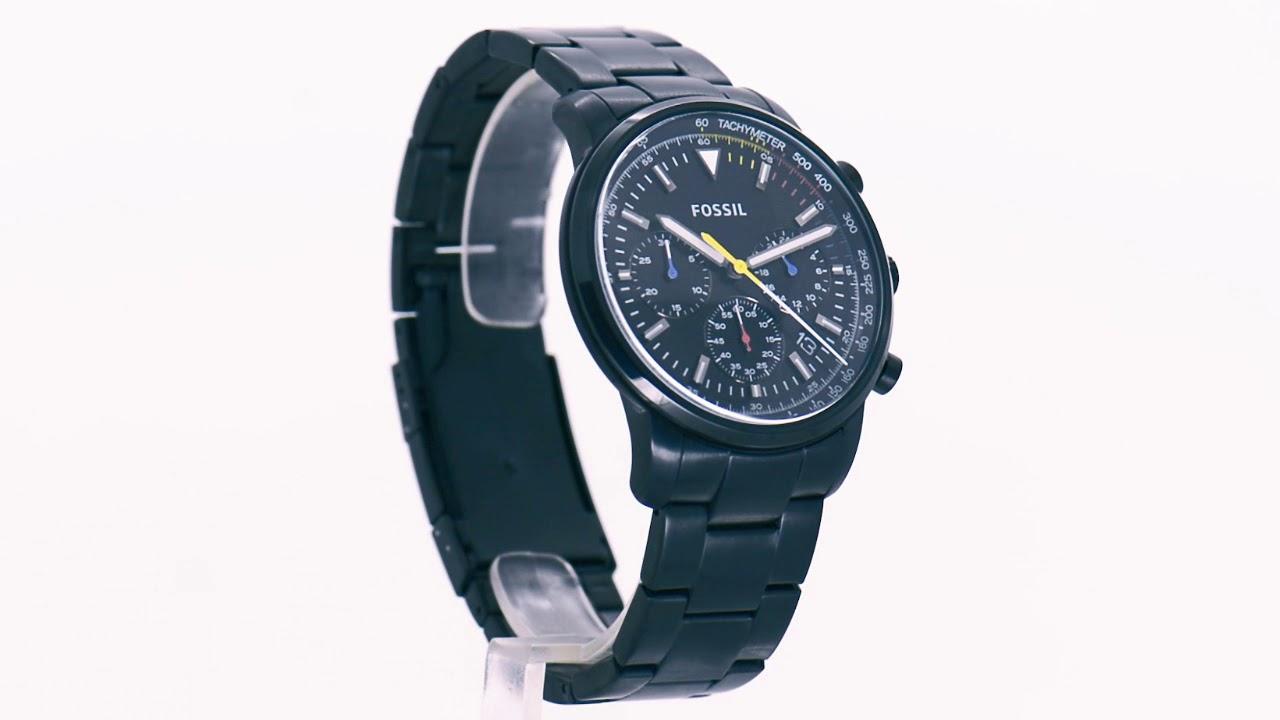 3cc23110e1a Relógio Fossil Masculino Goodwin Chrono FS5413 1PN - Eclock - YouTube