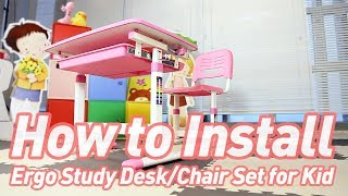 How to Install a Ergo Study Desk and Chair Set for Kids - PrimeCables®